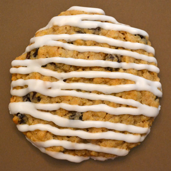 Iced Oatmeal Raisin Cookie